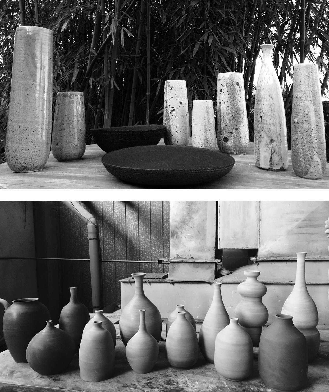 vases grès technique de tournage fait main cours de poterie céramique