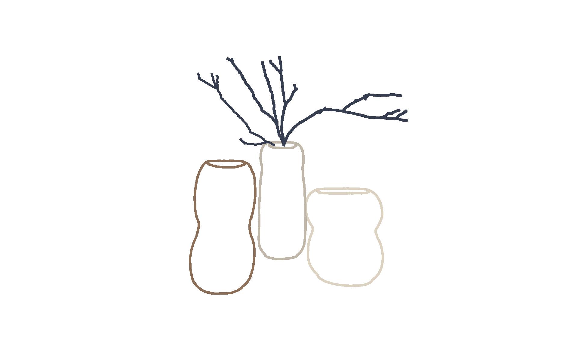 vases fait main bilobés cuisson au bois