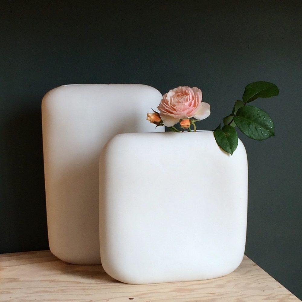 Xavier Brasleret vase porcelaine pure blanc