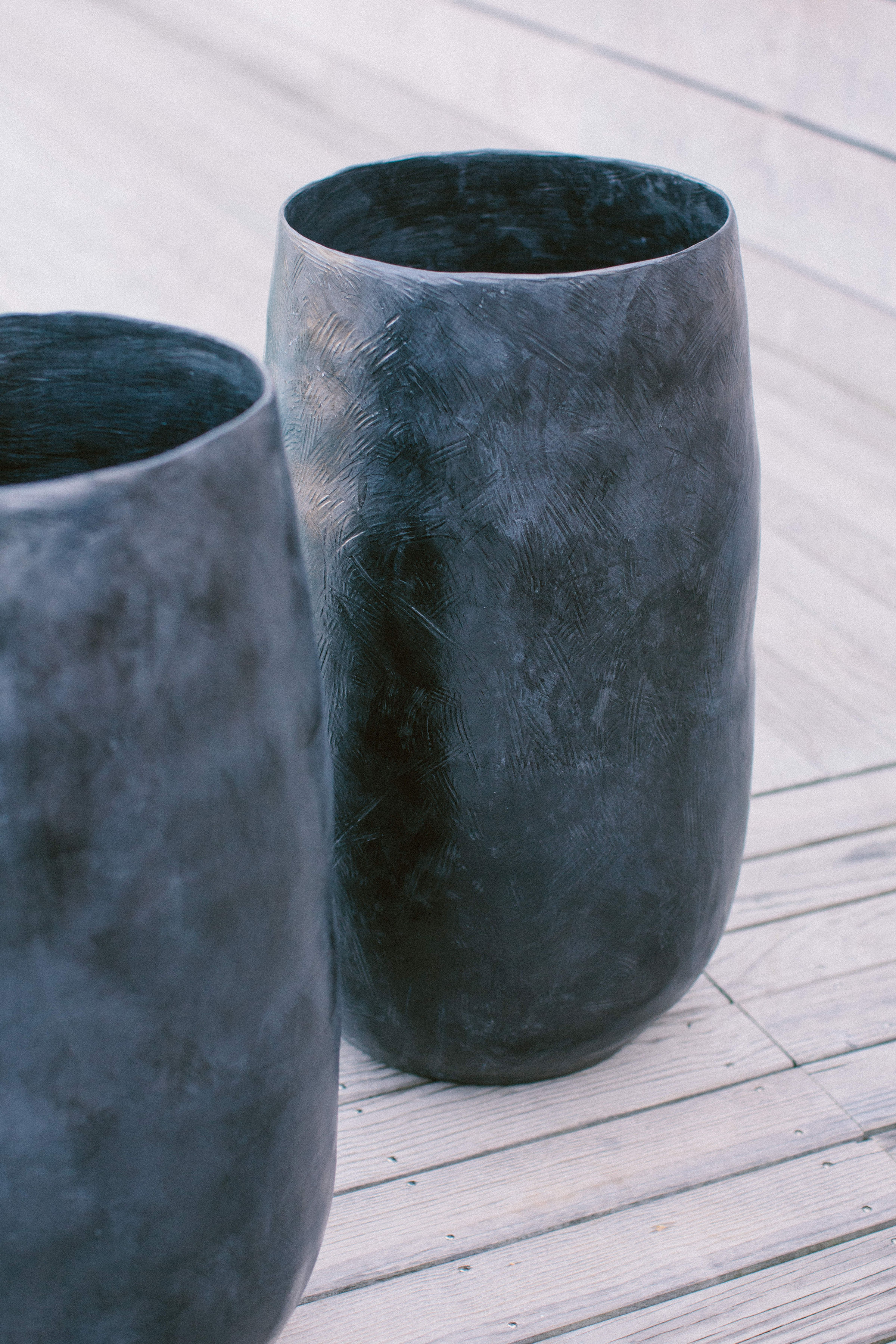 cocoon vase grés émaillé technique colombin design contemporain