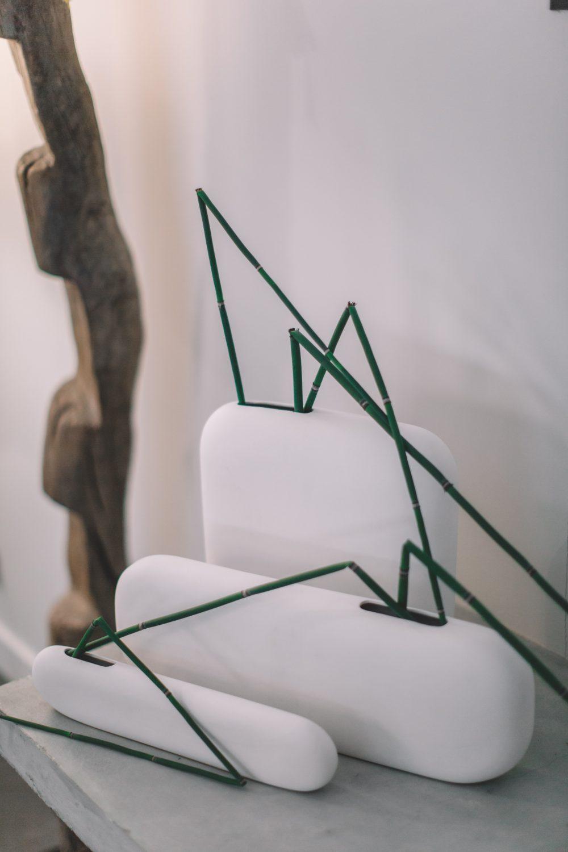 Xavier Brasleret ateliers d'art de France vases porcelaine blanc